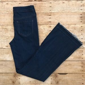 High-raise wide leg blue jeans size 29